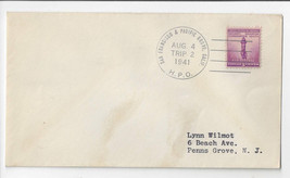 1941 San Francisco & Pacific Grove CA HPO Trip 2 Highway Post Office Cover - $5.70