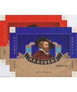2 Cigar Box Labels P.P. Rubens Embossed Red Gold Blue Gold Backgrounds V... - $5.50