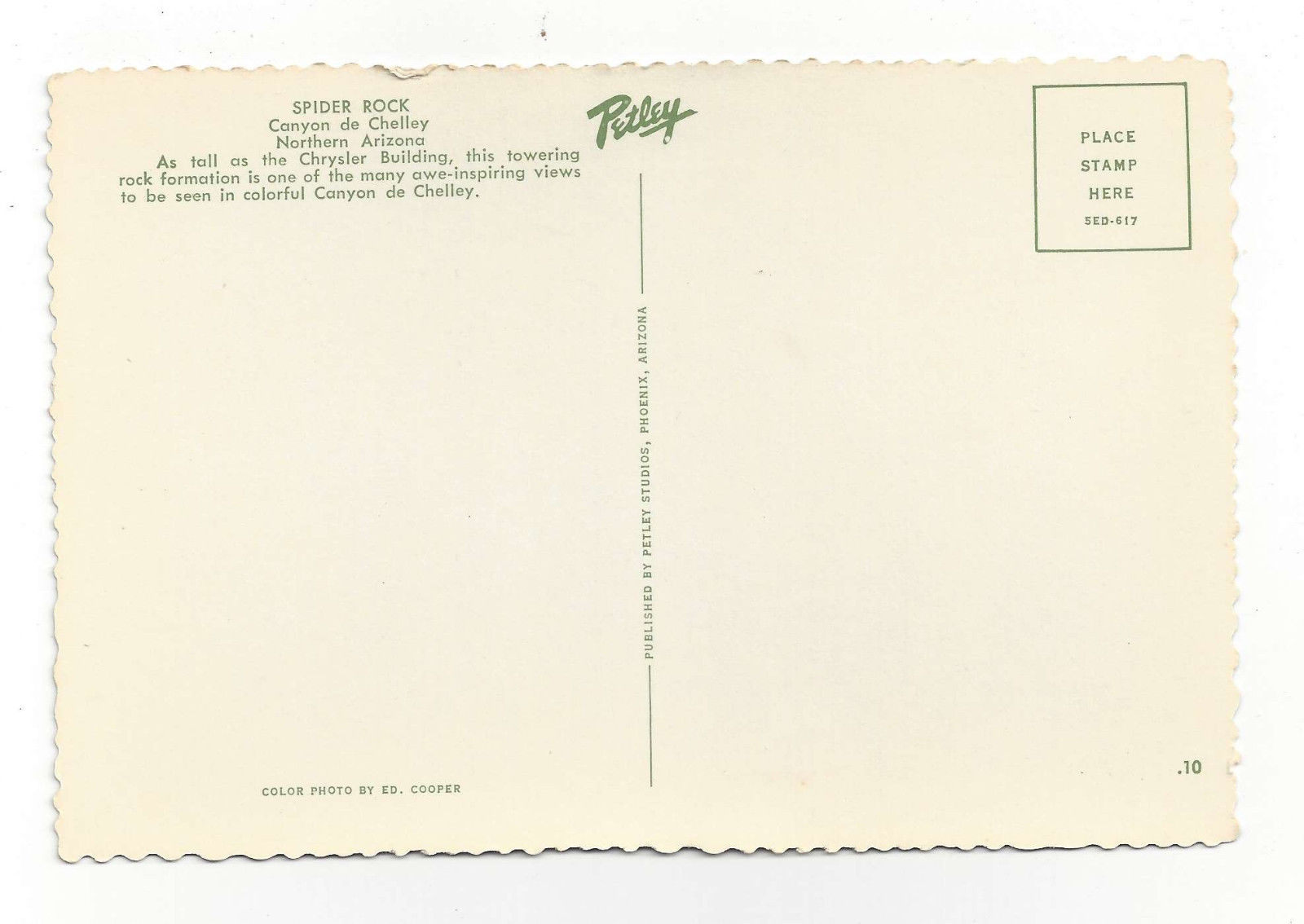 AZ Canyon de Chelley Spider Rock Vtg Postcard 4X6