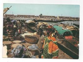 Africa Mali Mopti Market Marche de Mopti Vtg Postcard 4X6 - $5.69
