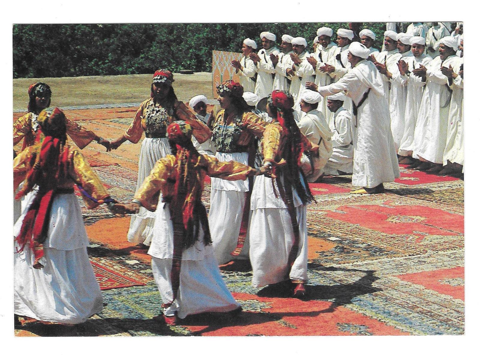Africa Morocco Marrakesh Dancers Costume Zagora Vtg Postcard 4X6 Marrakech