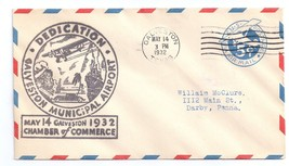 Airport Dedication Cover Galveston Texas Municipal Airport 1932 Sc# UC2 - $4.74