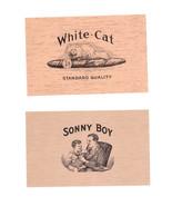 Cigar Box Labels White Cat and Sonny Boy Top Wraps 2 Labels - $4.74