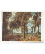 Art Hans Thoma Mainlandschaft 1893 Painting Realism Landscape Vtg Postca... - $6.36