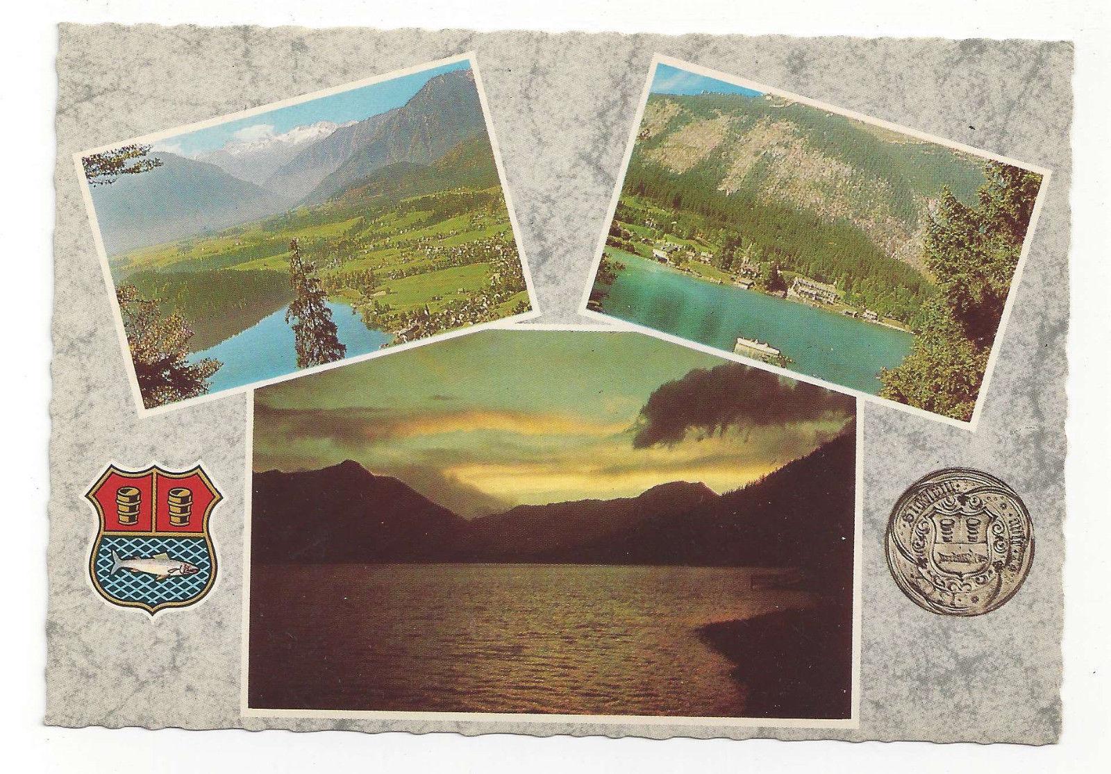 Austria Altaussee Multiview Dachstein Loser Grundlsee Vtg Postcards 4X6