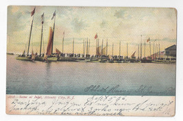 Atlantic City NJ Inlet Sail Boats New Jersey 1906 Postcard UDB - $5.69