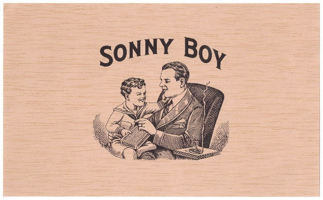 Cigar Box Labels White Cat and Sonny Boy Top Wraps 2 Labels