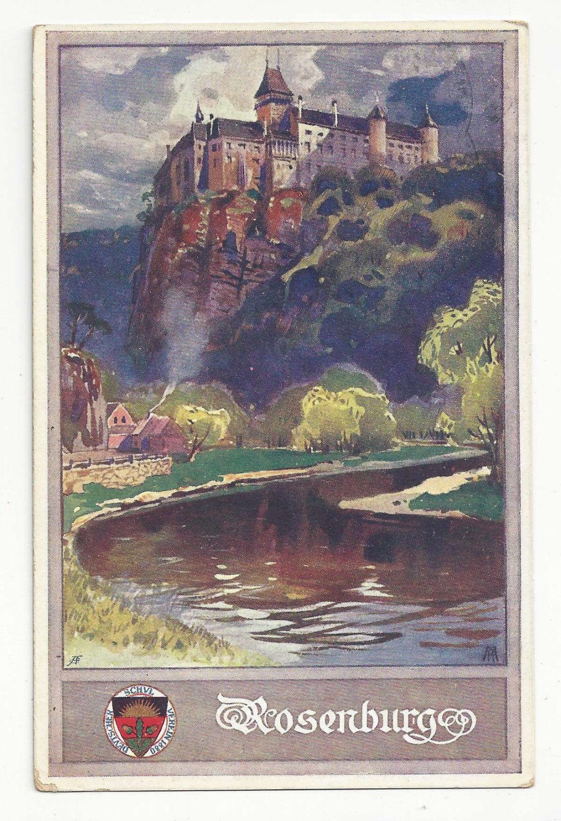 Austria Deutscher Schulverein No 179 Rosenburg Castle Vtg Josef Eberle Postcard