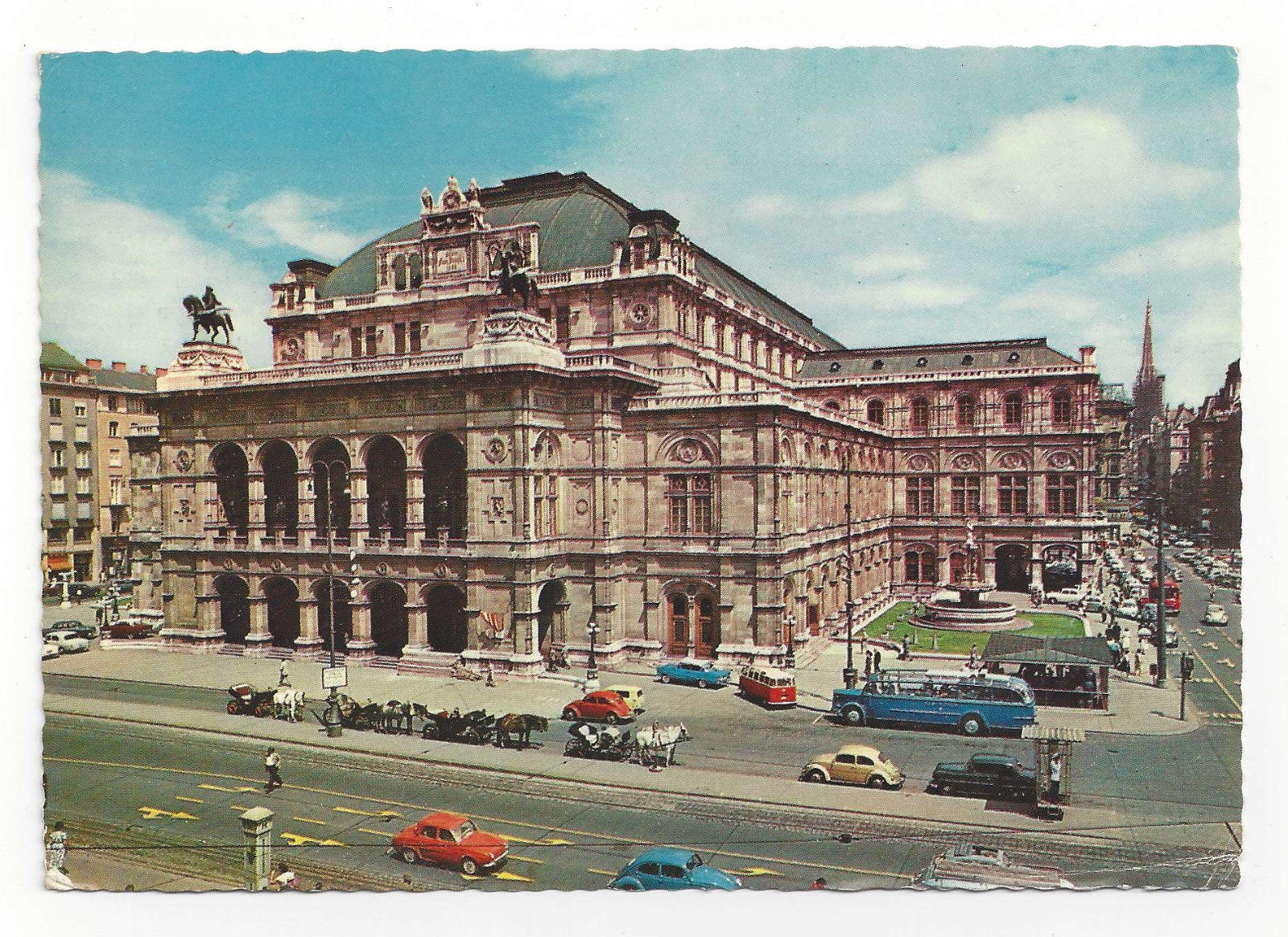 Austria Vienna Opera House Theater Wien Vtg Chrome 1971 Postcard 4X6
