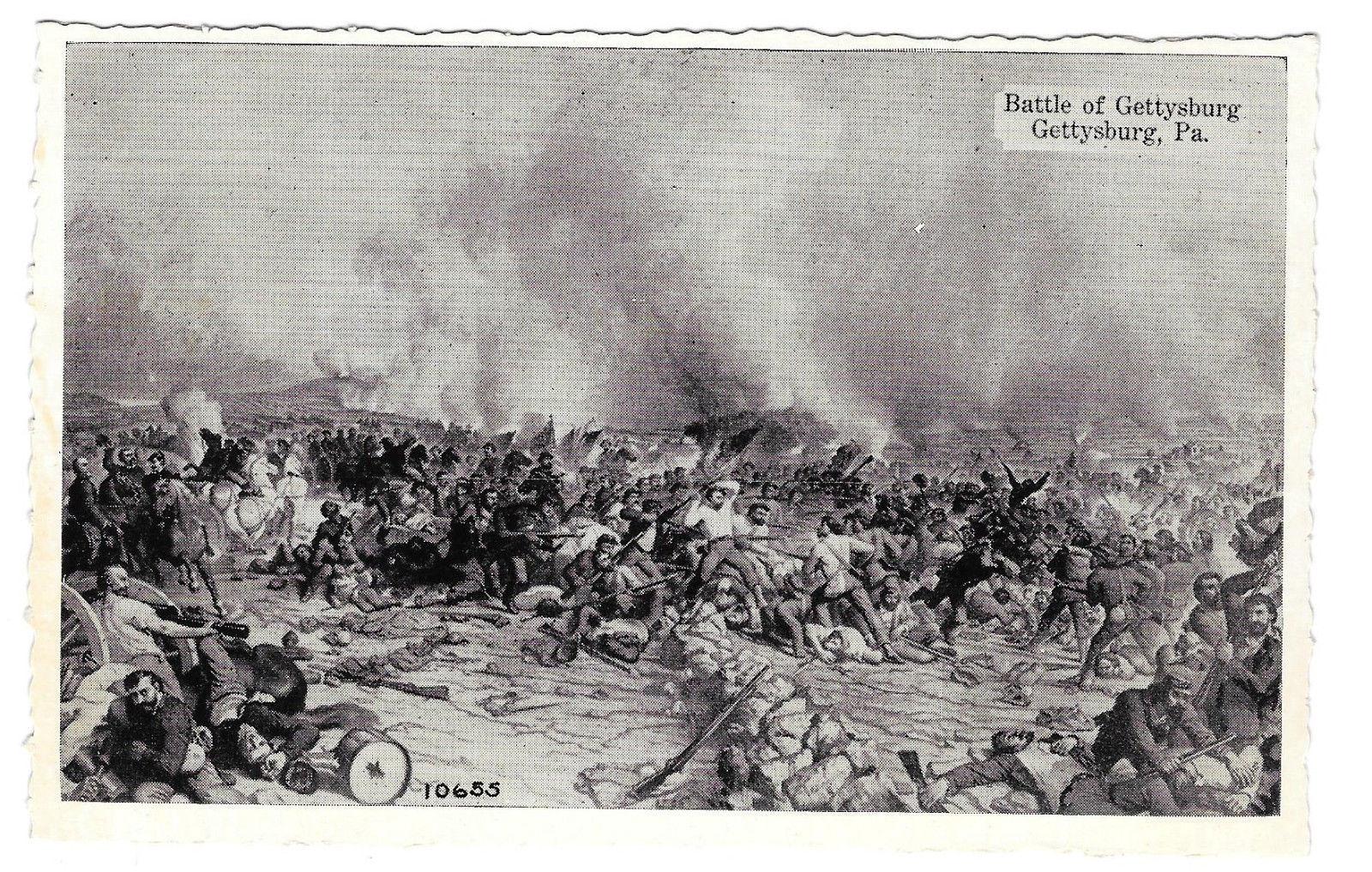 Battle of Gettysburg Rothermel Civil War Painting Vtg Buohl Postcard PA