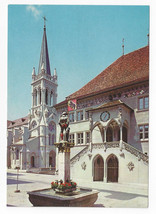 Berne Switzerland Town Hall Venner Fountain Rathaus Vintage Postcard 4X6 - $6.36