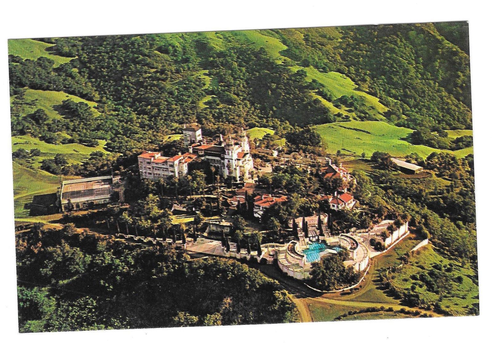 CA Hearst Castle San Simeon Estate Aerial View Vtg Postcard California