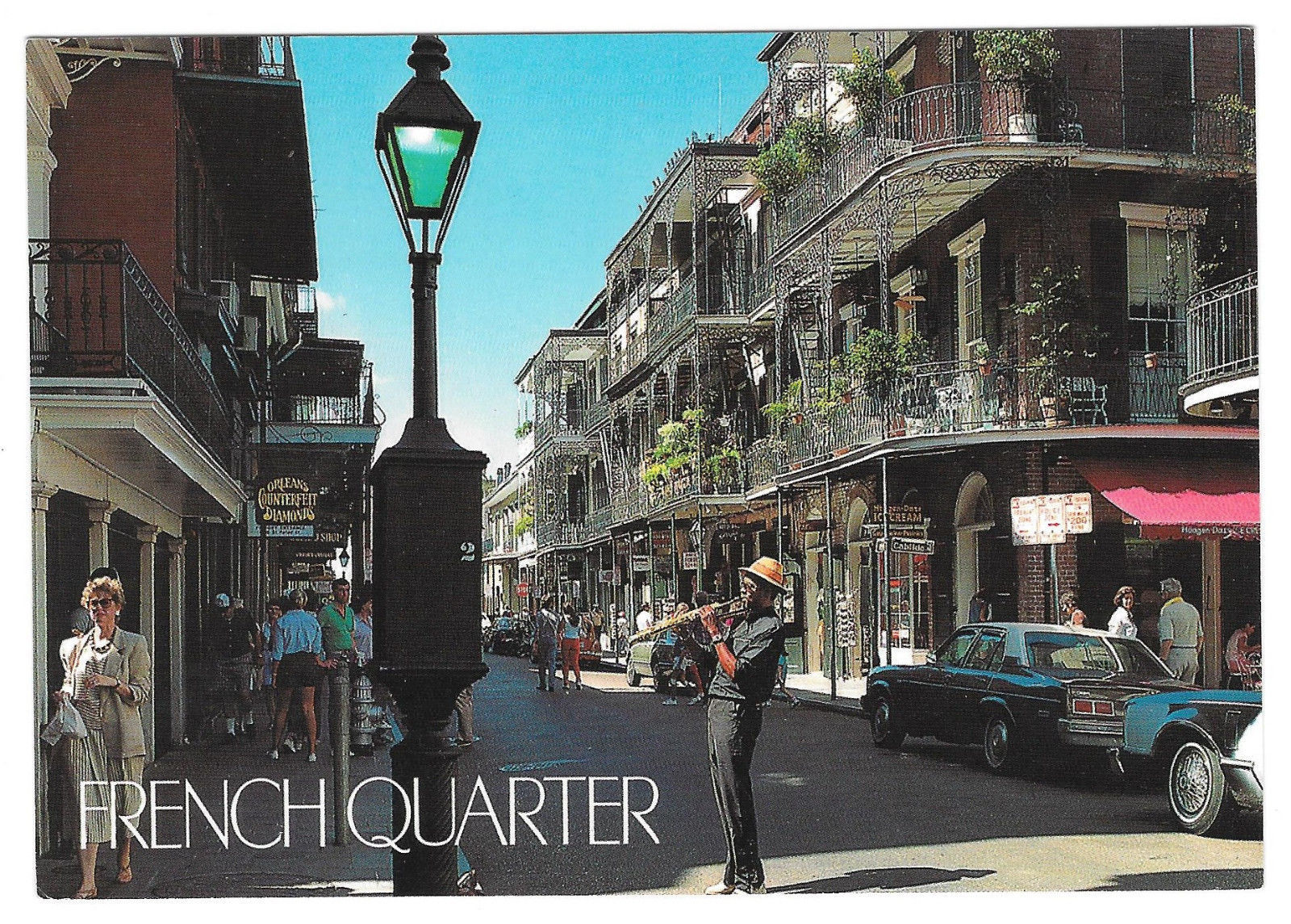 Louisiana New Orleans Street Musician French Quarter Vtg Postcard 4X6 LA