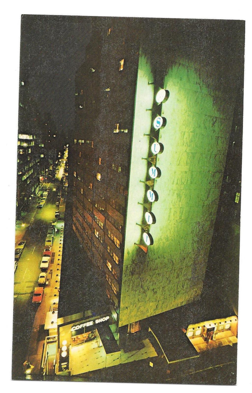 Loews Summit Hotel New York NY Lexington Ave Night View Vtg Postcard