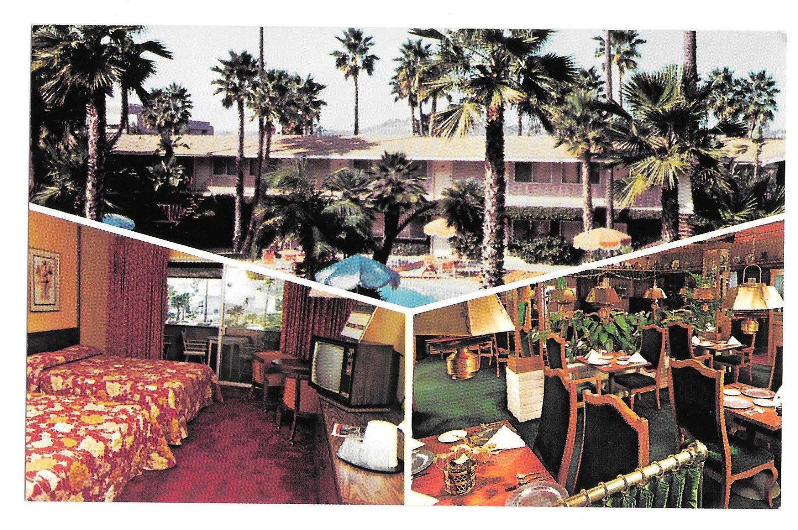 CA San Diego Kings Inn Motel Hotel Multiview California Vtg Postcard