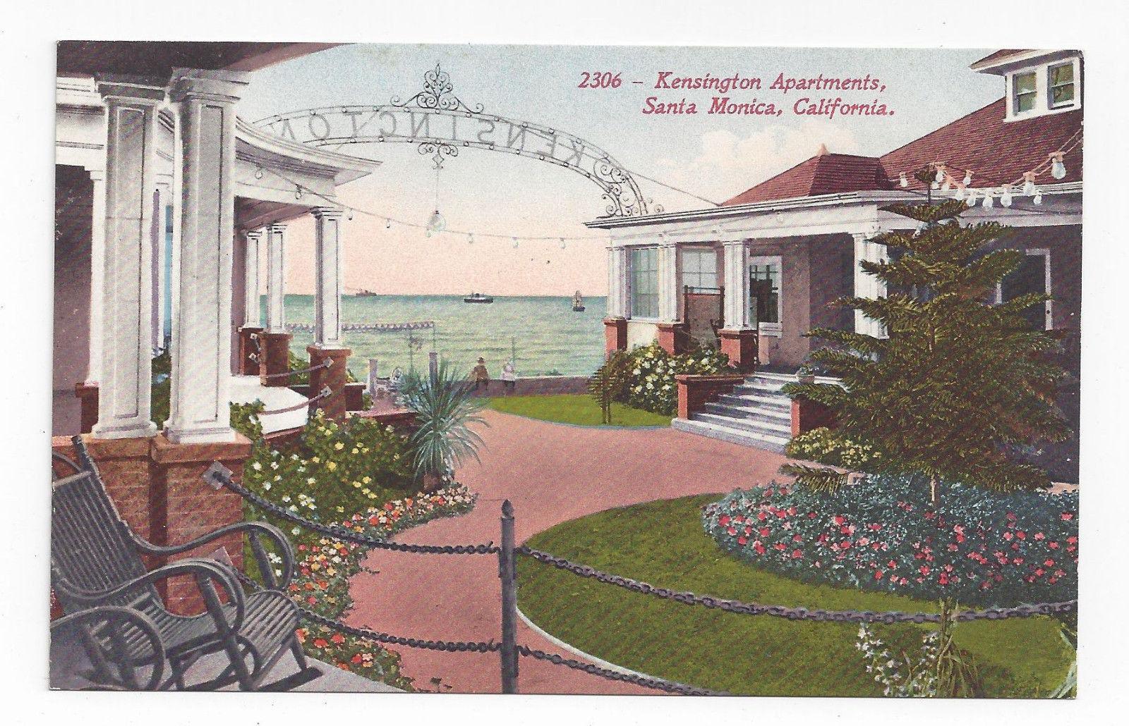 CA Santa Monica Kensington Apartments Vintage Edward H Mitchell 2306 Postcard