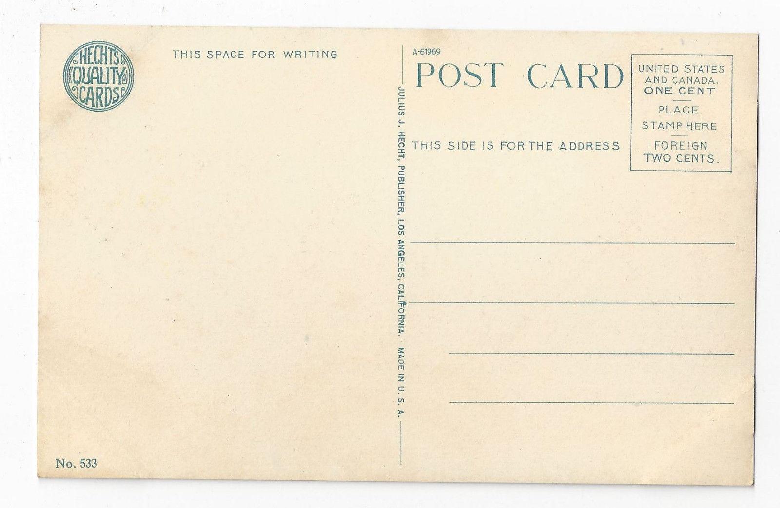 California Rose Arbor Julius J Hecht Quality Cards No. 533 Vintage Postcard