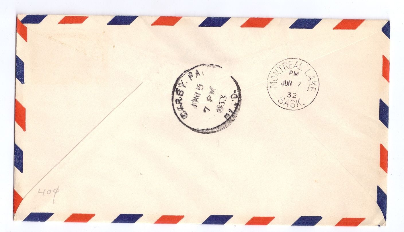 Canada FFC Prince Albert to Montreal lake 1932 Sc# C3 First Flight Cover