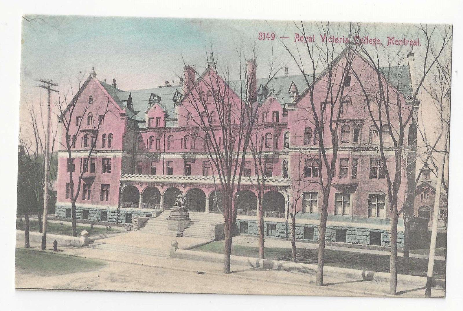 Canada Montreal Quebec Royal Victoria College Vtg Copp Clark Postcard
