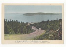 Canada Perce Quebec The Big Hill Bonaventure Island Vtg Henderson Postcard - $4.74