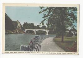 Canada Ottawa Dominion Driveway Rideau Canal Bank Street Bridge Postcard... - $6.36