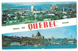 Canada Quebec Dual View Vtg 1957 Postcard - $6.36