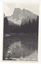 Canada RPPC Emerald Lake Mt Murgess Rockies Vtg Real Photo Postcard 1941 - $5.69