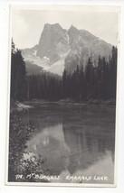 Canada RPPC Emerald Lake Mt Murgess Rockies Vtg Real Photo Postcard 1941 - $5.69