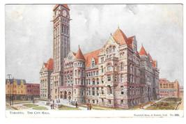 Canada Toronto City Hall Vtg Tuck Oilette Postcard Warwick Bros & Rutter - $6.64