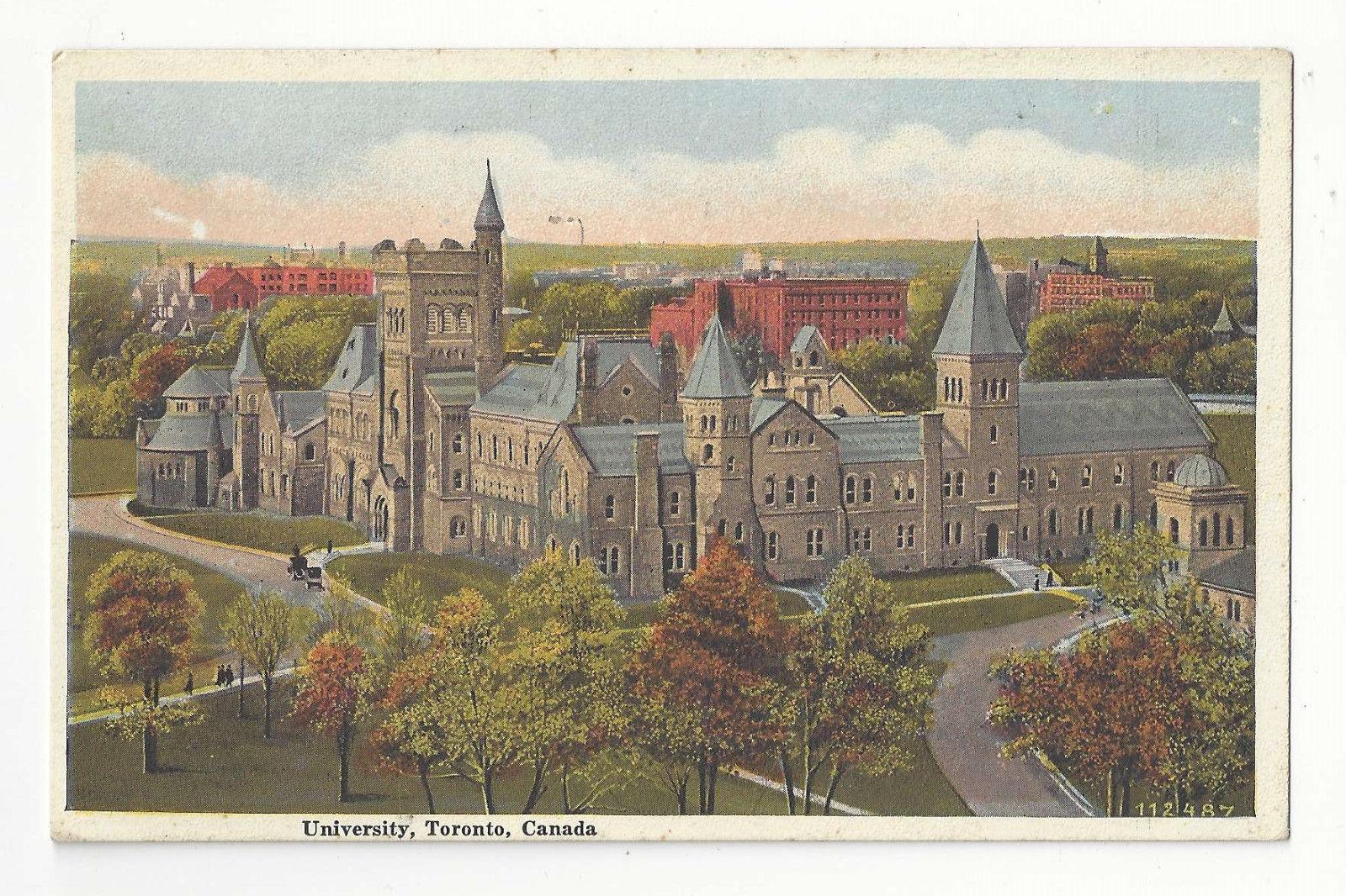 Canada Toronto Ontario University Vtg Valentine & Sons Postcard
