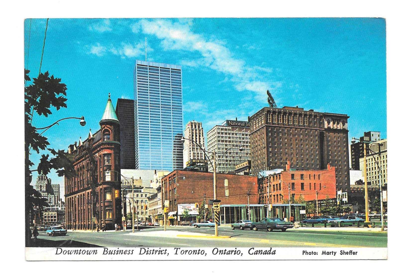 Canada Toronto Downtown Business District Vtg Postcard 4X6