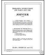 "Craftsman 6"" Jointer Operators Manual No.103.23900 - $10.88"