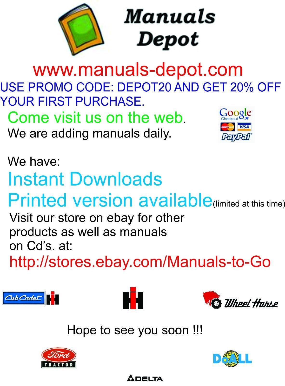 Cub Cadet International Farmall  Manuals COMBO Package