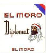 Cigar Box Label El Moro Diplomat Cigar Embossed Arab Sheik - $4.74