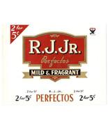 Cigar Box Label Inner R. J. Jr. Embossed NRA logo - $4.74