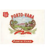 Cigar Box Label Inner Porto-Vana Embossed - $4.74