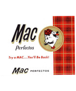 Cigar Box Label Mac Perfectos Embossed Scotsman and Tartan - $4.74
