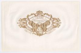 Cigar Box Top Sheet Grand Bruxelles Belgium Embossed Label - $3.99