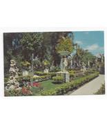 Clearwater Florida Kapok Tree Inn East Garden Statues Vintage 1970 Postcard - $6.36