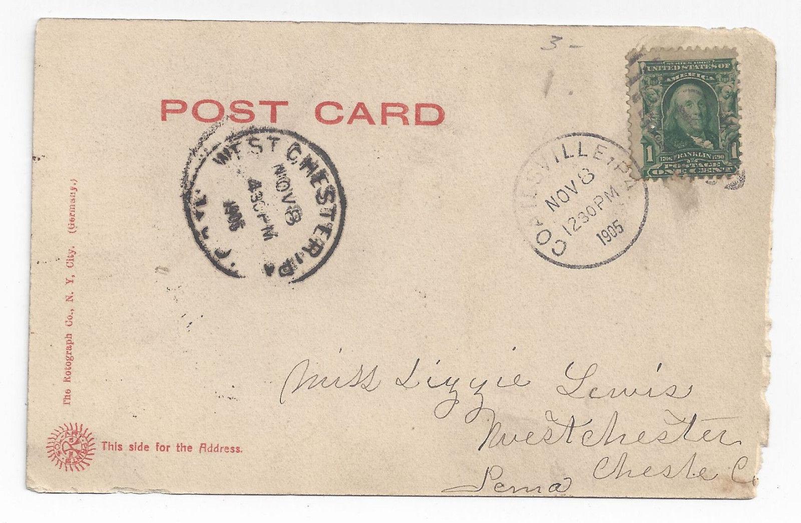 Coatesville PA YMCA 1905 Rotograph Postcard