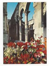 Croatia Split Hotel Peristil Diocletian Palace Arches Vtg Postcard 4X6 - $6.36