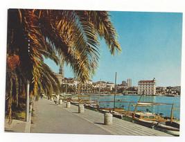 Croatia Split Spalato Port Harbor Boats Vtg Postcard 4X6 - $6.36
