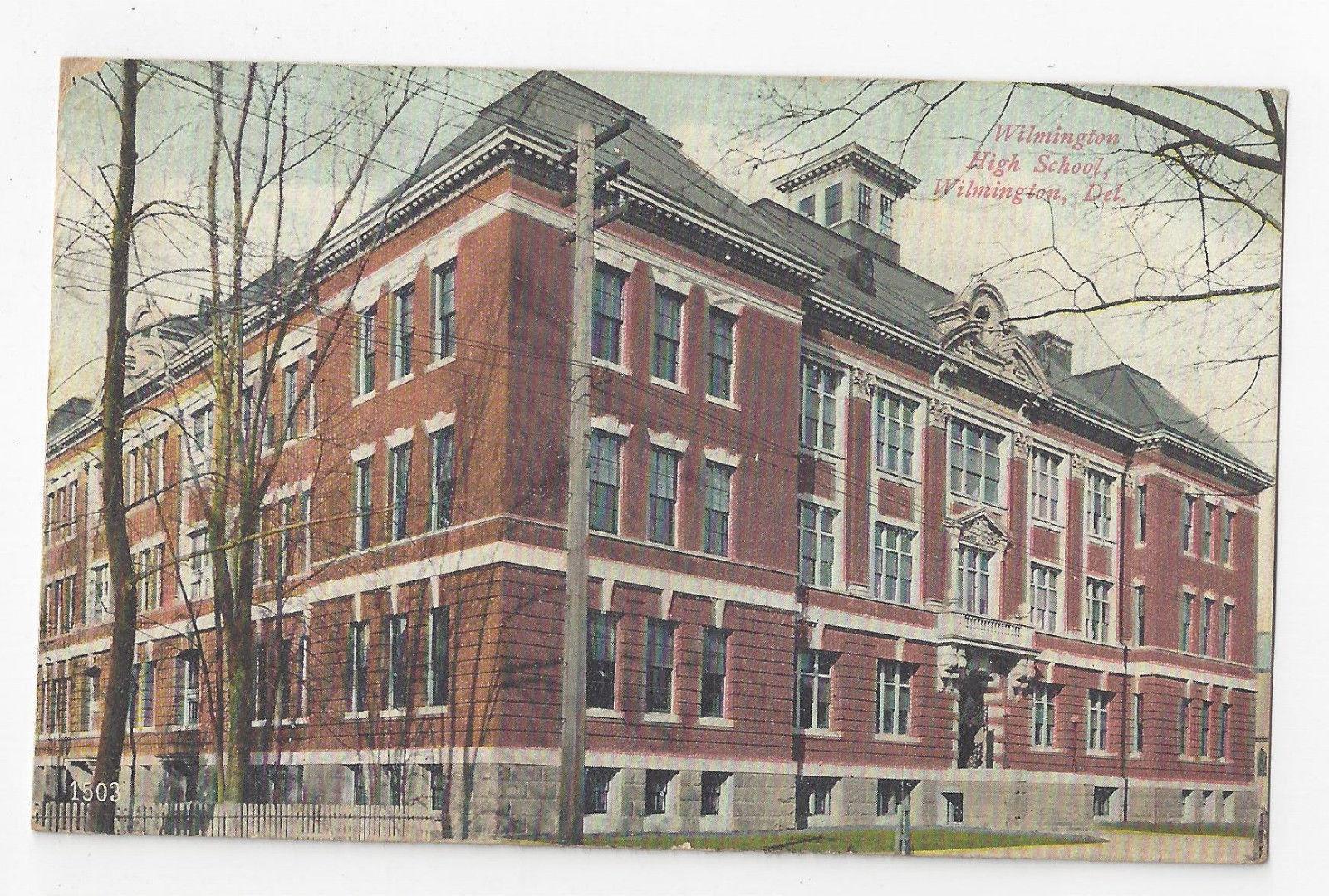 DE Wilmington High School Vintage 1908 Vtg Postcard