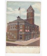 DE Wilmington US Post Office Ninth and Shipley Vintage 1907 UDB Postcard - $6.99