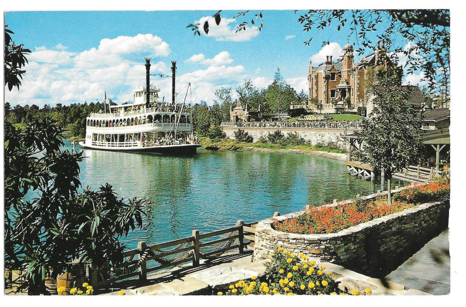 Walt Disney World Cruising Rivers of America Vtg 1980s Postcard Florida