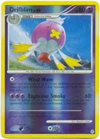 Drifblim 24/130 Reverse Holo Rare Diamond & Pearl Pokemon Card