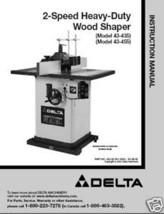 Delta Shaper 43-435 & 43-455 Instruction Manual - $10.88