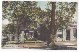 Salem MA Witch House Hugh Leighton 1907 UND Vintage Postcard - $6.64