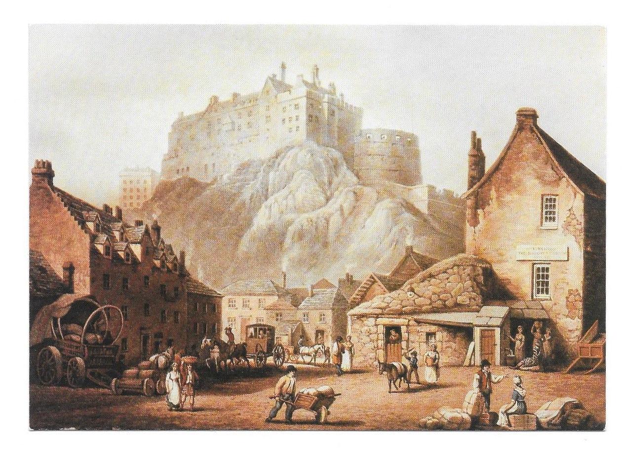 Edinburgh Castle John Alexander Gilfillan Painting Vtg Art Postcard 4X6