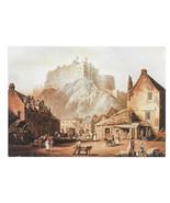 Edinburgh Castle John Alexander Gilfillan Painting Vtg Art Postcard 4X6 - $6.36